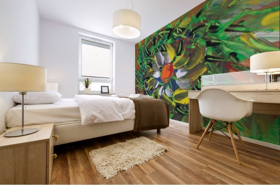 savage flower meadow abstraction Mural print