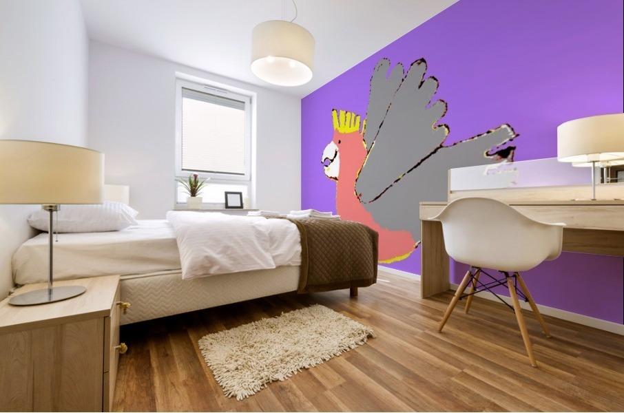 Happy Galah - Purple Mural print