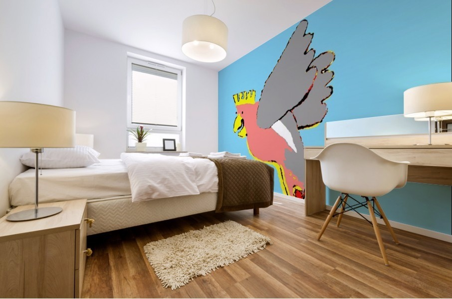 Laughing Galah - Blue Mural print