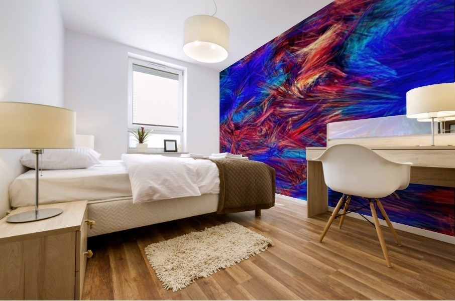 Colored Lines Mural print