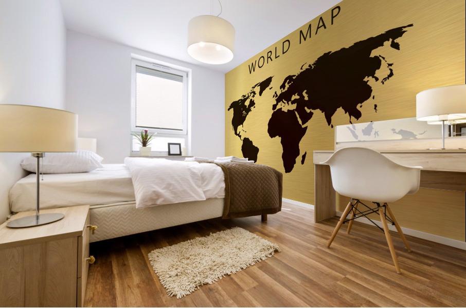 map world 4 Mural print
