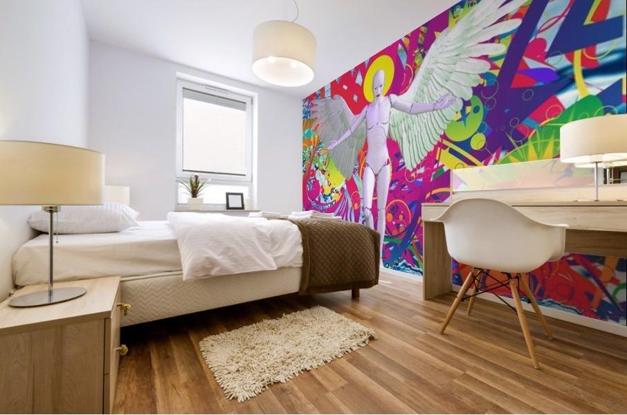 Angelic Robot Mural print
