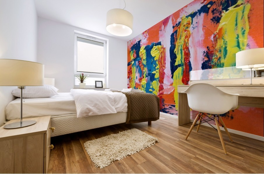 Abstract painting Mural print
