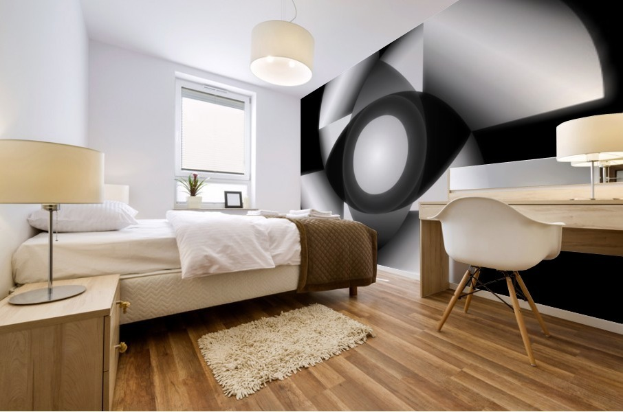 1-Golden Ratio B&W Mural print