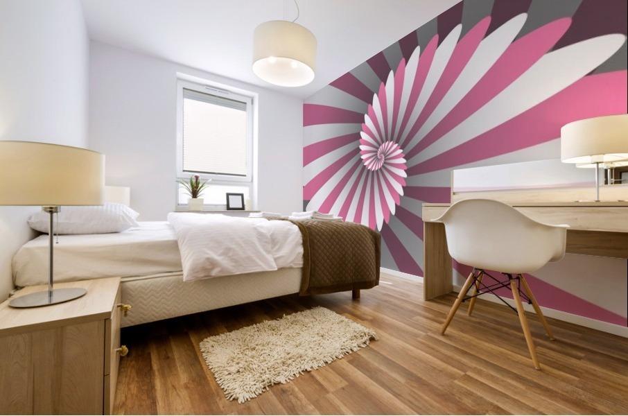 Swiggy Spiral Mural print