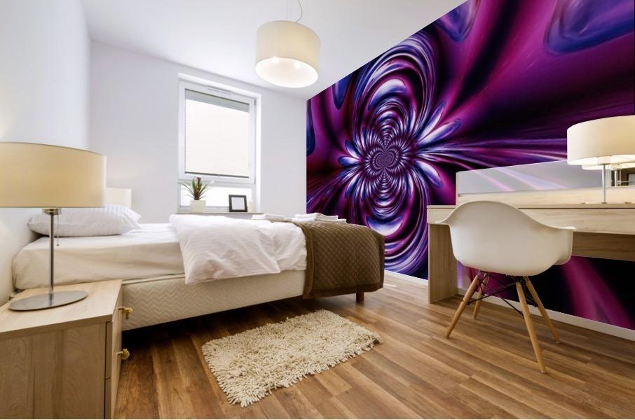 Purple Space Mural print