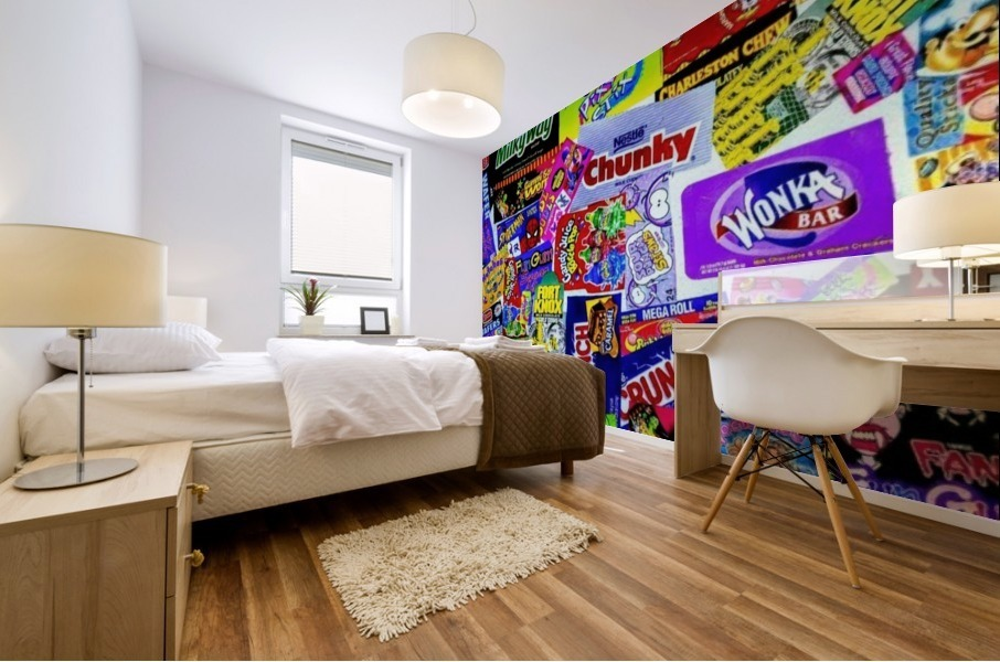 candy wrapper madness Mural print