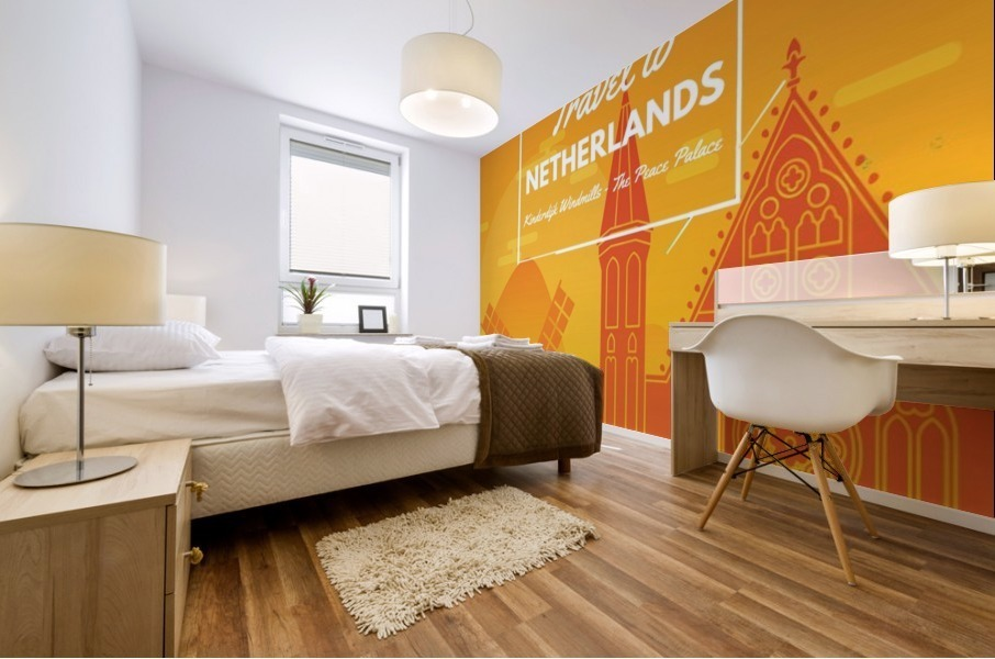 Travel To Netherlands Mural print