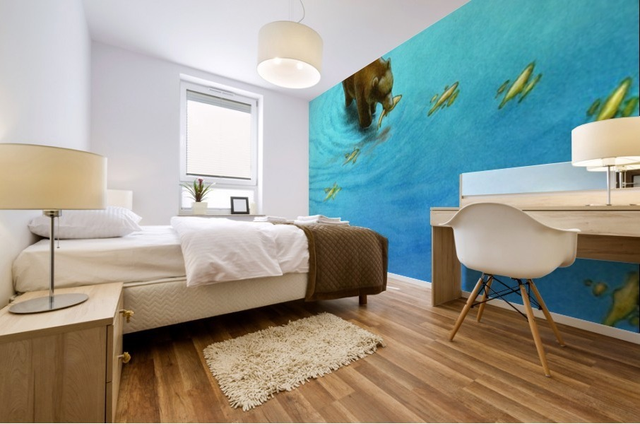 gold fishes Mural print