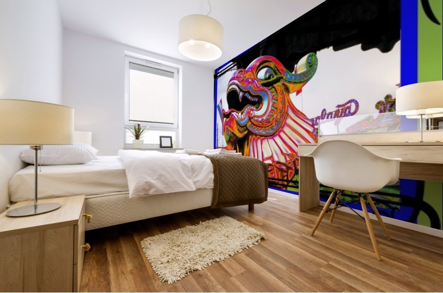 Carnival Creature in Bright Colors Mural print