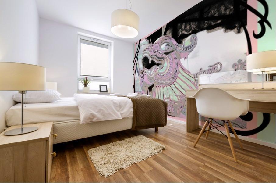Carnival Creature in Pastels Mural print