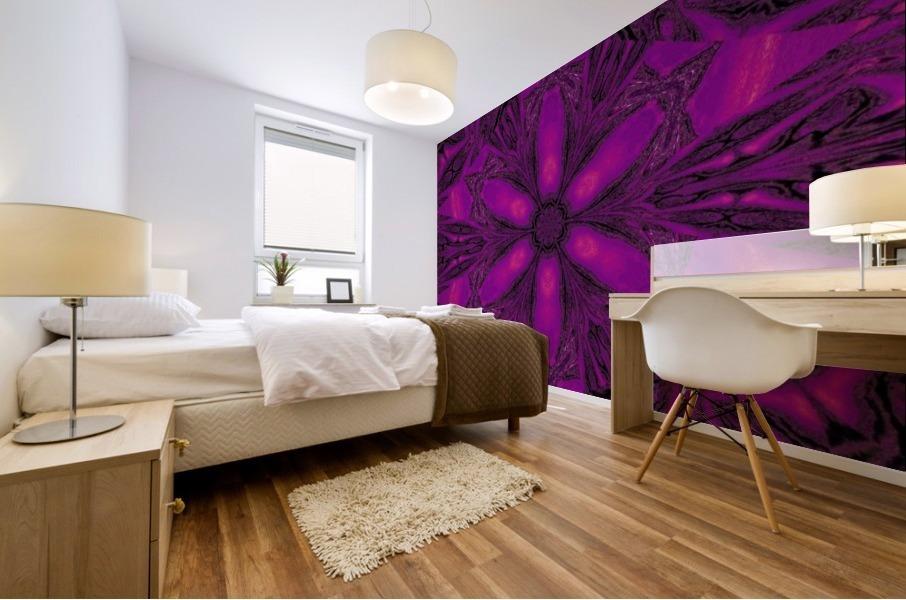 Purple Desert Song 16 Mural print