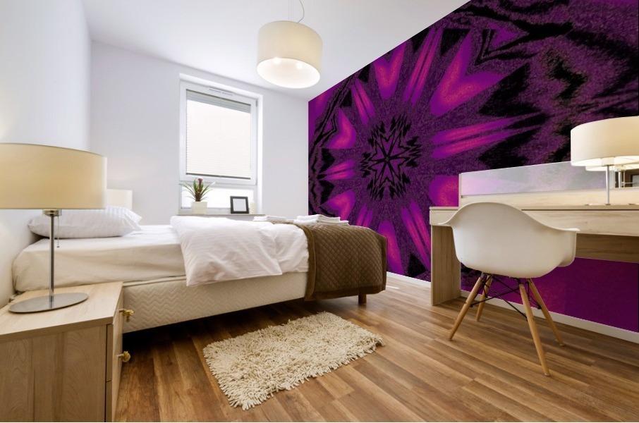 Purple Desert Song 22 Mural print