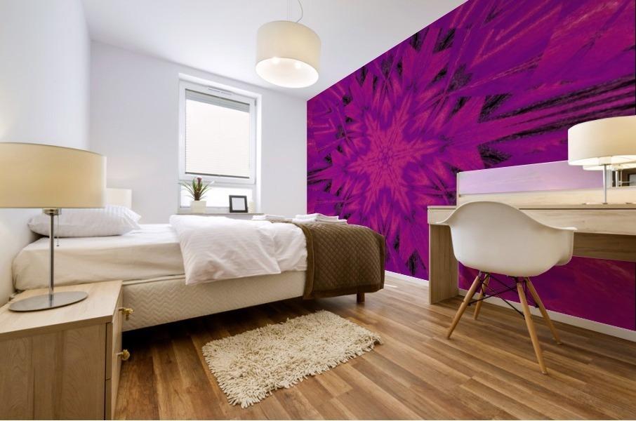 Purple Desert Song 45 Mural print