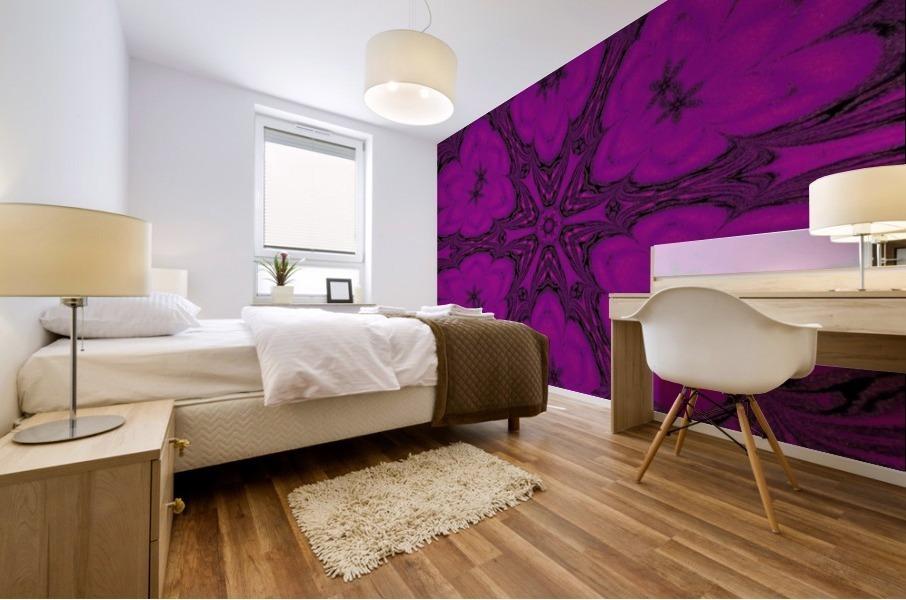 Purple Desert Song 47 Mural print