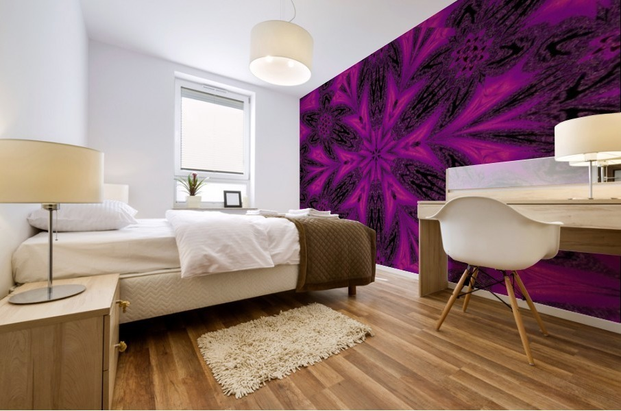 Purple Desert Song 50 Mural print