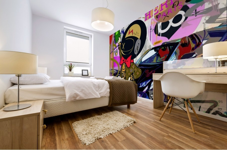 Millionaire Huracan EVO Mural print