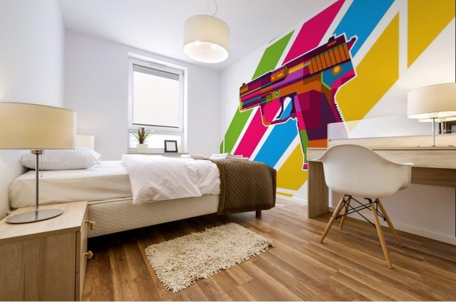 Heckler and Koch USP Handgun Mural print