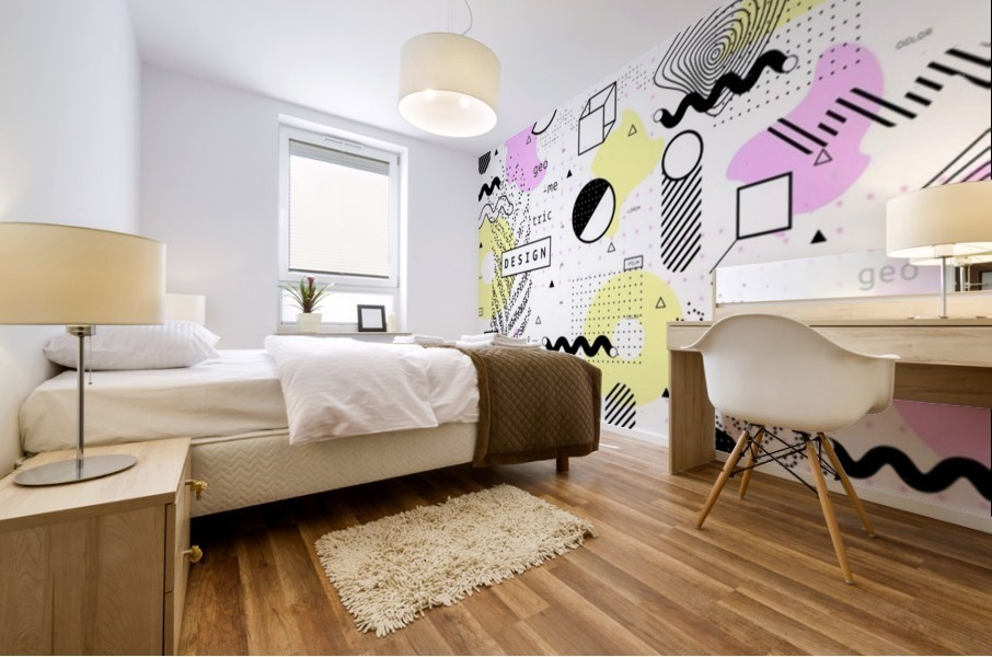 graphic design geometric background Mural print