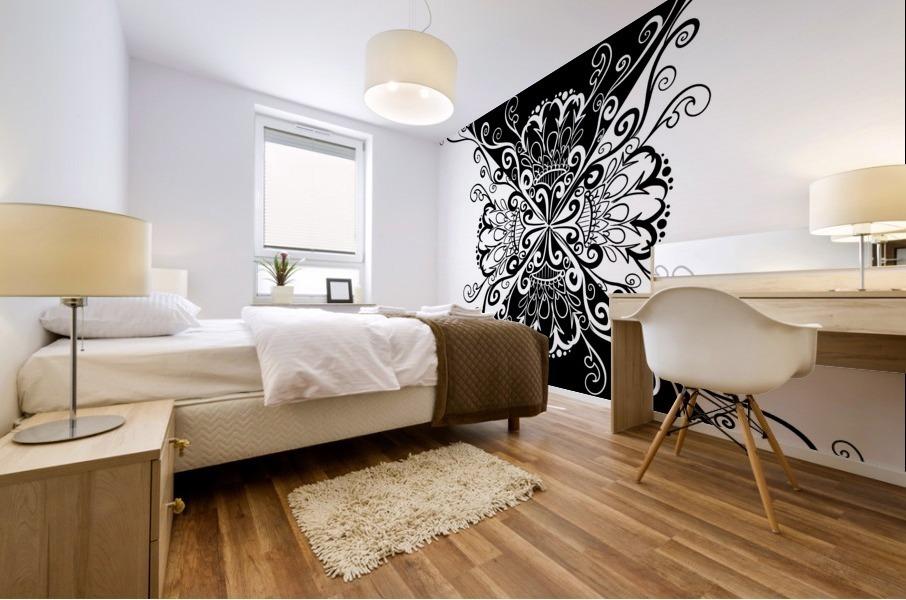 Black & white Mural print