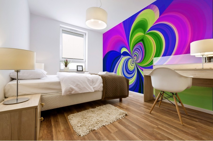 PSYCHEDELIC BUTTERFLY 2 Mural print