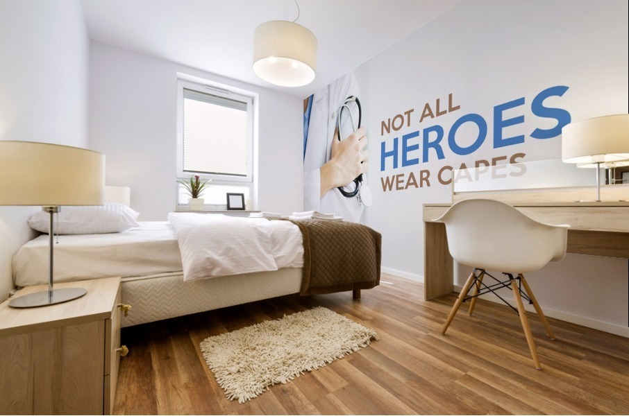 Not All Heroes Wear Capes Motivational Wall Art Mural print