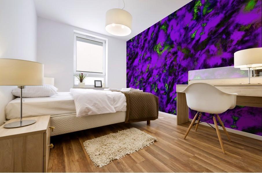Fluttering purple Mural print