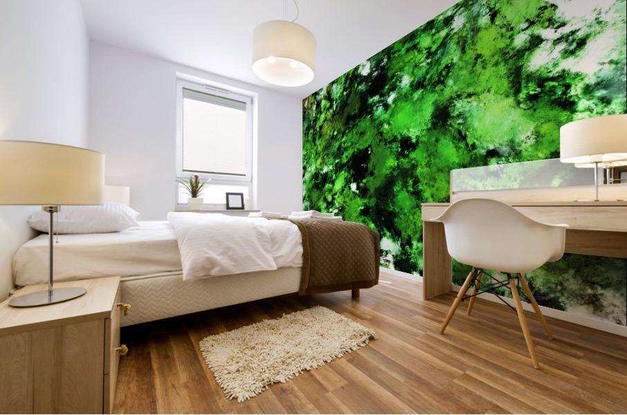Green deflected Mural print