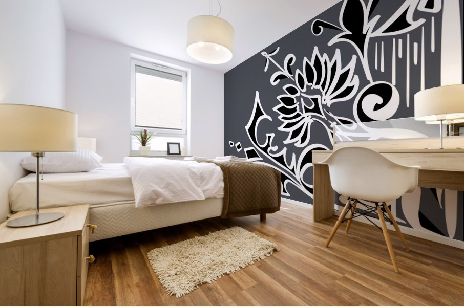tricolor abstract Mural print