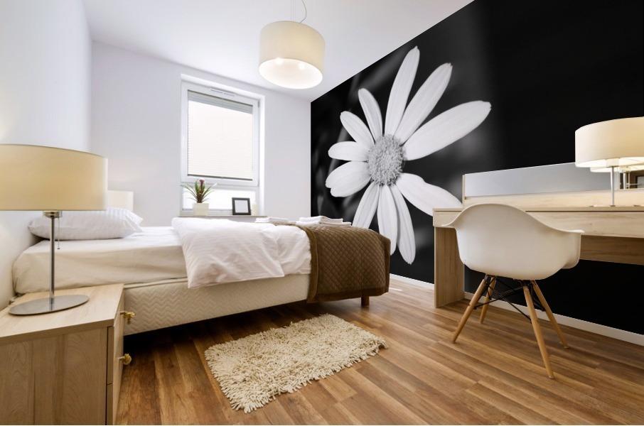 Beautifully White B&W Mural print