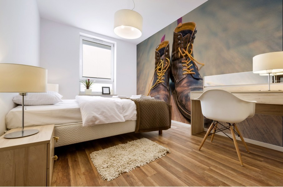 Worn Out Boots Mural print