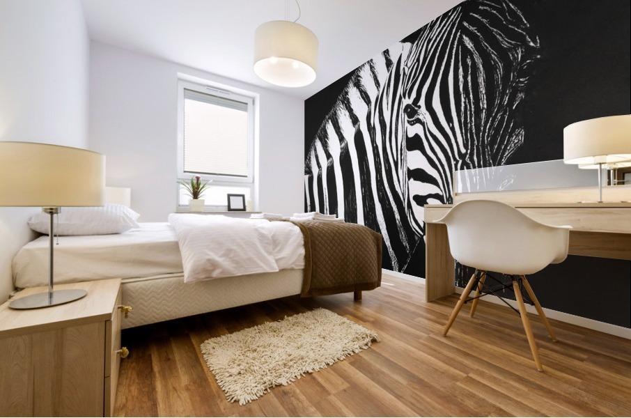 Zebra Portrait Mural print