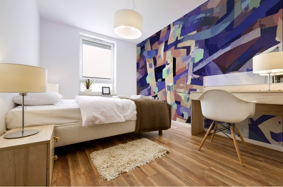 Seamless Geometric Vivid Abstract Mural print