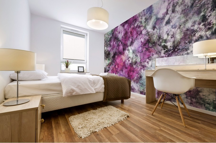 The quiet purple clouds Mural print