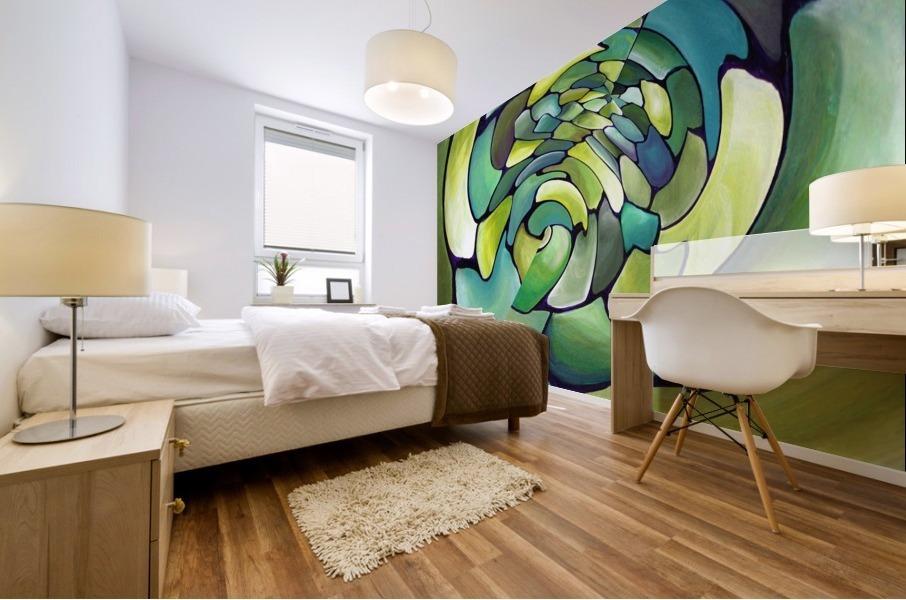 Art Deco_Green _Pattern_A Mural print