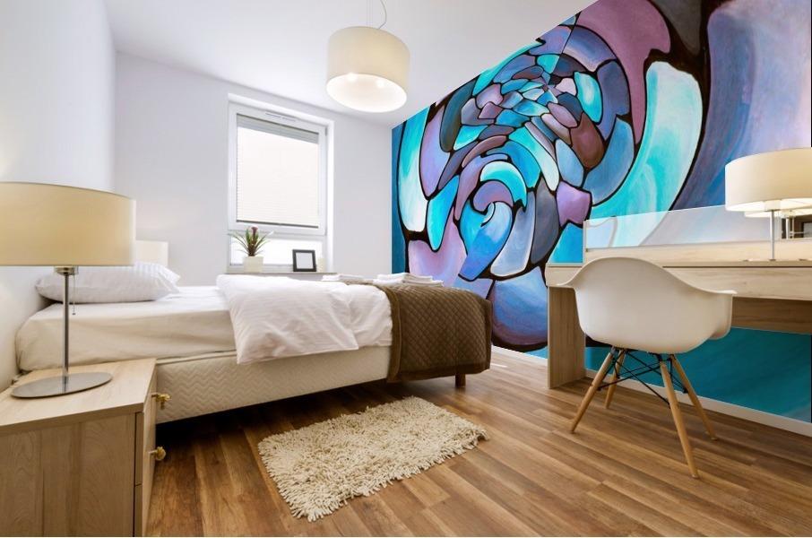 Art Deco_Green _Pattern_Aqua Mural print