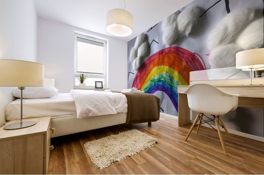 Nola rainbow Mural print