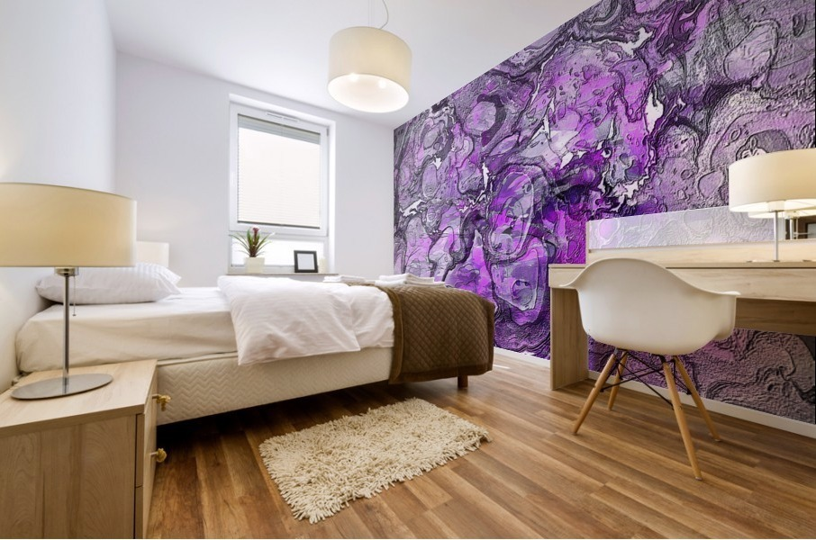 Purple Marble Mural print