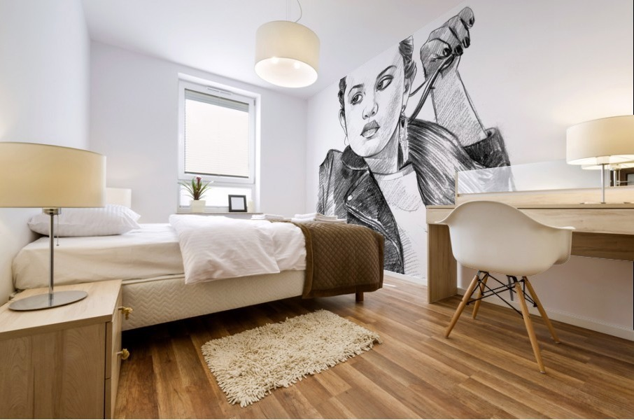 Selena Gomez - Celebrity Pencil Art Impression murale
