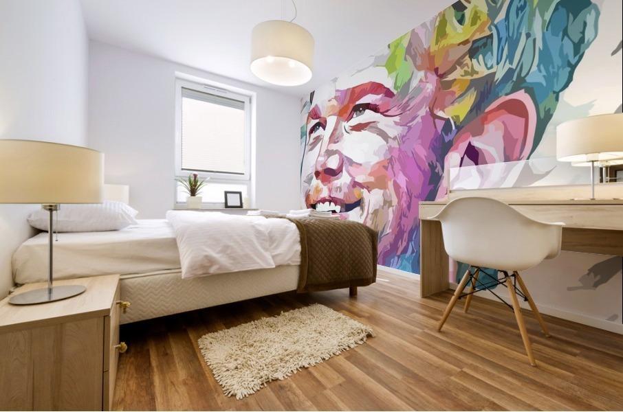 Chris Pratt - Celebrity Abstract Art Impression murale