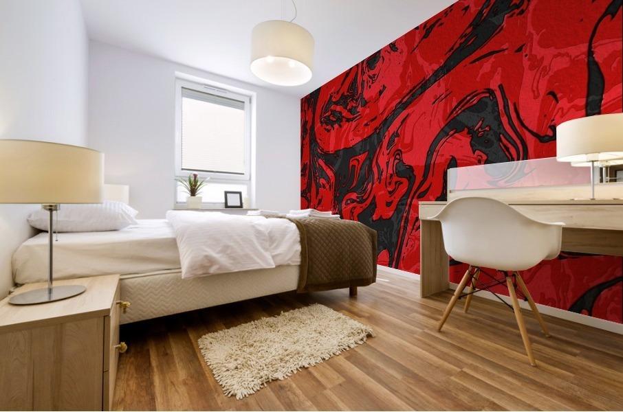 Black & Red Marble II Mural print