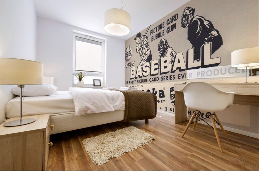 1955 Topps Baseball Bazooka Bubble Gum Vintage Metal Sign Mural print