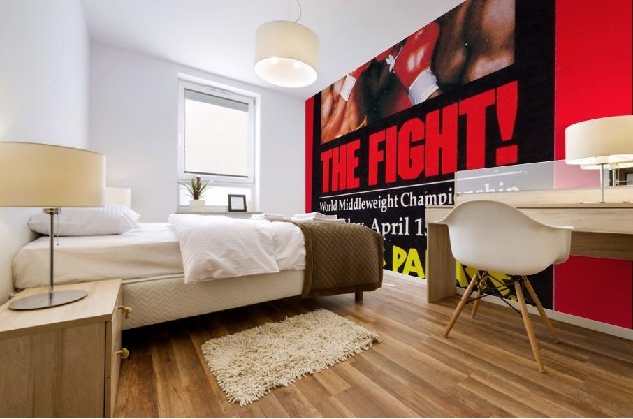 1985 hagler hearns boxing match caesars palace las vegas the fight Mural print