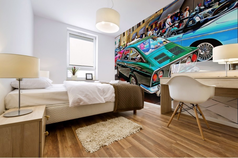 Fiat 850 Sport Coupe Mural print