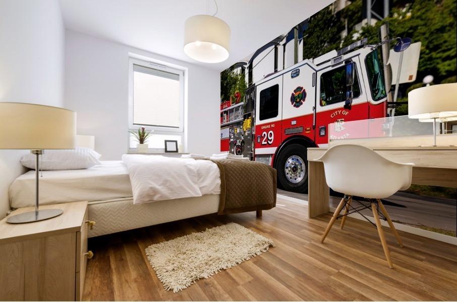 City of Atlanta Fire Engine No 29 6665 Mural print