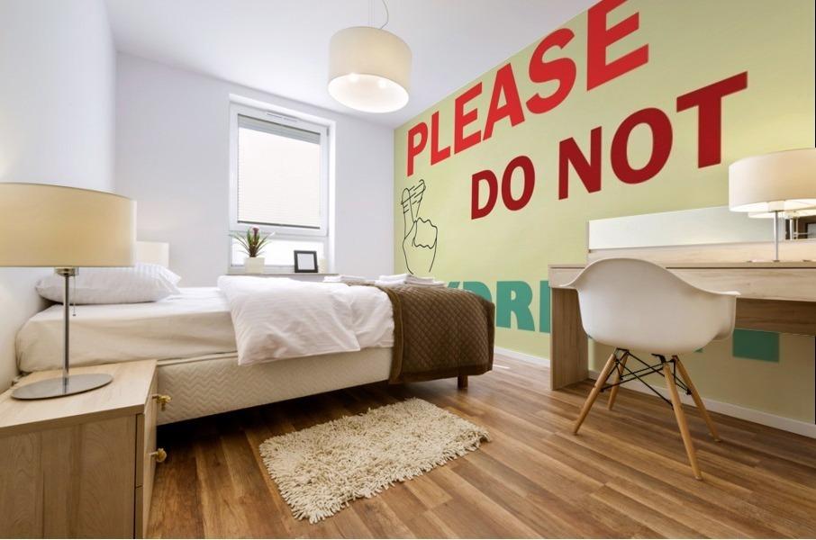 Please do not daydream Mural print