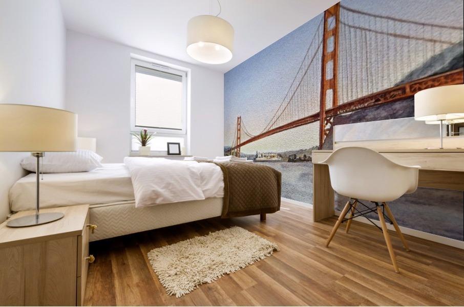 San Francisco California Golden Gate Bridge Mural print