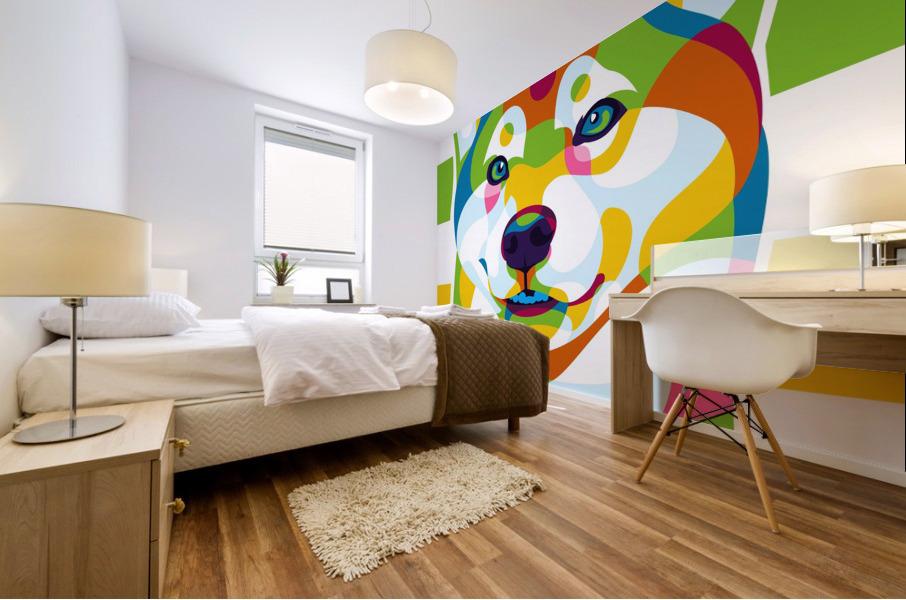 Shiba Inu Colorful Dog Mural print