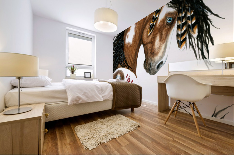 Majestic Pinto Horse Mural print
