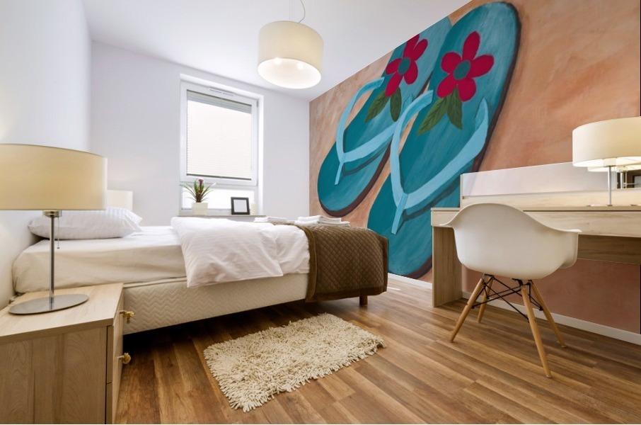 Flip Flops Mural print